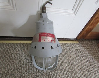 Vintage Industrial Salvage Crouse Hinds Explosion Proof Hanging Pendant Light
