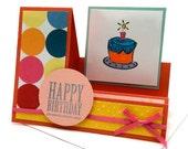 Snarky Birthday Cards - Funny Happy Birthday Cards - Birthday Cake Card - Novelty Birthday Greeting Card - Colorful Polka Dot Card