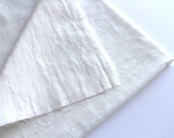 cotton double gauze fabric. japanese pure cotton fabric. soft like a cloud. 102cm (40in) wide. sold by 50cm (19in) long. white