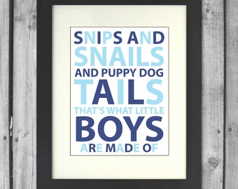 Snips and Snails Little Boys Print
