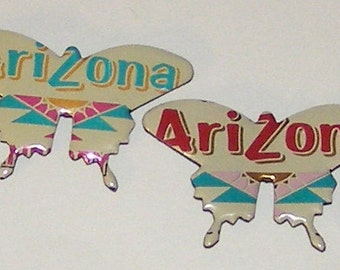 2 Butterfly Magnets - Arizona Tea Can