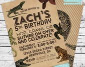 Reptiles & Amphibians Herpetology Birthday Party Pack - Invitation + Printables!