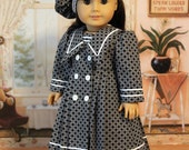 RESERVED Edwardian Dress and Hat for Dolls like Samantha, Nellie, or Rebecca