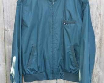 1980s TEAL MEMBERS ONLY Wind Breaker Jacket Size L