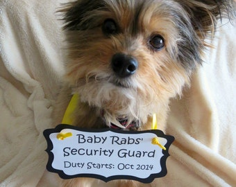 Pregnancy Reveal Dog Sign - Personalized Baby Announcement - Available in 2 Sizes & Custom Colors
