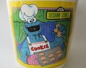 Vintage Sesame Street Cookie Monster Cookie Jar 1980 Collectible