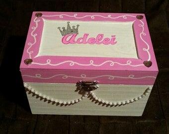 Diva Princess handpainted personalized jewelry box