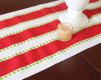 Christmas Table Runner - Red and Green Table Runner - Holiday Table Runner - Christmas Decor