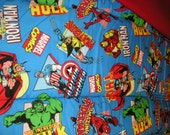 Marvel Comic nap mat,one piece, handmade ,  washable