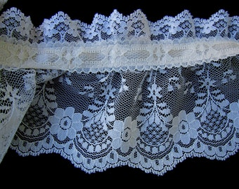 Ivory Lace Large Spool Craft Supplies Sewing