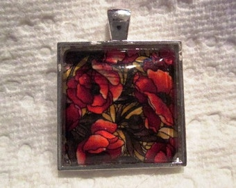 Poppies Silver Pendant and/or Scarf Ring