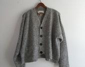 Vintage 90's Flax Angelheart Cropped Cardigan Wool Sweater XL