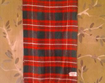 70s genuine tartan fringed scarf