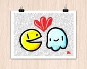 "9""x12"" Pac-Man Amor Eterno! WaKa-wAka! (Color Print)"