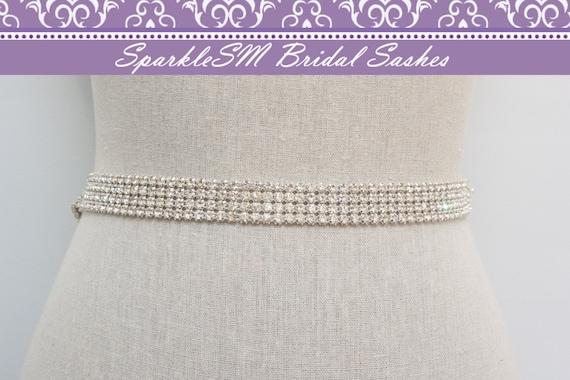 Rhinestone Crystal Bridal Belt Sash, Wedding Sash Belt, Bridal Accessories, Crystal Belt Sash Rhinestone Bridal Belt, SparkleSM Bridal, Ryan