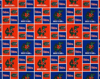 University of Florida Gators Block Fabric