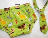 Barnyard Birthday cake smash outfit baby boy farm animals shirt tie diaper cover cow horse pig dog cowboy 12 18 24 m toddler Ready to Ship