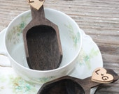 Wedding Candy Scoops Personalized Rustic Wedding, Set Of 2