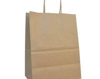 """10 x 5 x 13.5"""" - 100% Recycled Paper Shopping Bag - Case of 250"""
