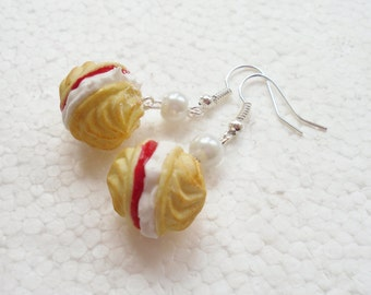 Viennese Whirl Earrings. Polymer Clay.