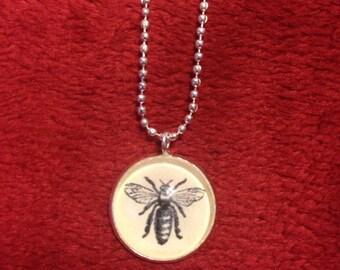 Bee Pendant, antique image
