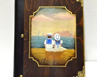 Nautical baby shower, nautical birthday, nautical nursery art, sailor children, nursery scrapbook, baby memory book, neutral baby book