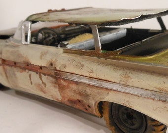 Junker Scale Model Car Chevy Impala by Classicwrecks in Tan