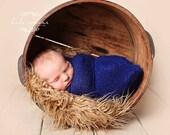 Stretch wrap - 'NAVY' newborn stretch wrap  / scarf - prop blanket - knitbysarah - Stitches by Sarah