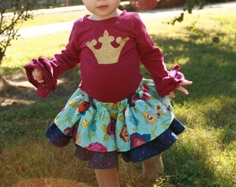 Baby Antoinette's Double Layer Twirly Skirt PDF Pattern sizes newborn to 18/24