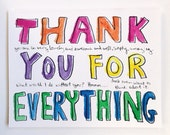 Thank you hand-lettered card