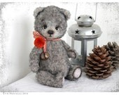 My new PATTERN Download to create teddy like Bear Cozy Grey Niko OOAK 8,5