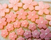Cherry Blossom Flower Hand decorated sugar cookies (#2393)