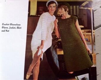 Vintage Hipster Danish Design Reynolds Knitting Magazine - Retro Cool Cat Clothing Handbook Made in Denmark - DIY knitting booklet