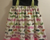 Knot Dress with Colorful Mustache Print 6 7 8