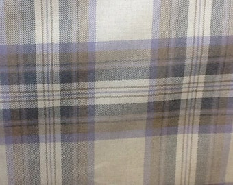 West port check in heather/purple by the metre 100% cotton