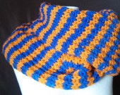 Hand Knit Wool Scarf in Clemson Colors