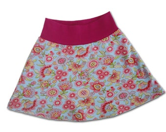 SALE 50% OFF Girls Skirt, Floral Spring Skirt for Girl, Toddler Skirt, Knit Skirt, 2T-3T  Euro Designer Fabrics Farbenmix