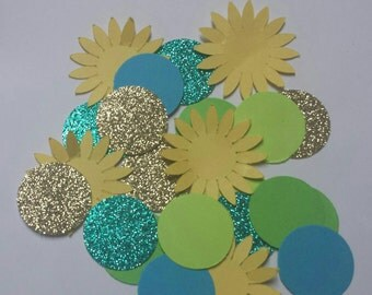 Sunflower birthday  party confetti  with sunflower 100 pc