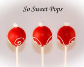 So Sweet Pops Happily Made Red with White Swirl Inspired Cake Pops