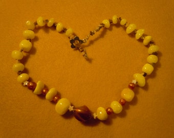 Beaded yellow Necklace