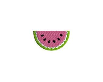 Mini Watermelon Machine Embroidery Design-INSTANT DOWNLOAD