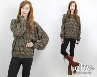 Vintage 90s Oversized Knit Sweater S M L Oversized Sweater Oversized Jumper 90s Sweater Vintage Sweater Men's Sweater Women's Sweater
