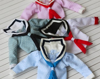 PO - Anniedollz Blythe Vintage Long Sleeve Sailor Shirt 4 Color