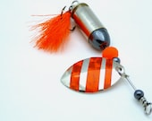 Blazing Orange Bullet Fishing Lure