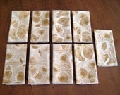 9 Vintage Vera Napkins, Soft Earth Tones, Peach Blossom Abstract Flower Pattern