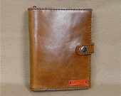 A6 Notebook and pen with reusable, real Italian leather cover. Free UK delivery.