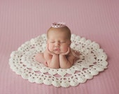 Newborn Baby Rug,  Cream Rug, Photo Prop