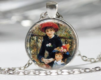 Two Sisters Necklace Renior Painting Jewelry