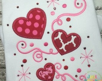 Love Swirls Machine Embroidery Applique Design Buy 2 for 4! Use Coupon Code 50OFF
