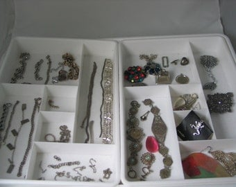 Vintage Jewelry Destash findings for assemblege recycled jewelry